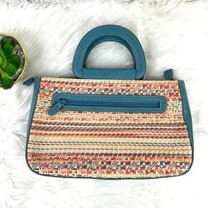 Handbags - Vintage Style Wicker Zipper Convertible Crossbody
